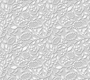 Wektoru 3D papieru sztuki wzoru adamaszkowi bezszwowi 376 tła liścia słońca ślimakowaty kwiat Zdjęcie Royalty Free