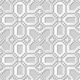 Wektoru 3D papieru sztuki wzoru adamaszkowi bezszwowi 001 tła mozaiki Kwadratowy krzyż ilustracja wektor