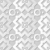 Wektoru 3D papieru sztuki wzoru adamaszkowi bezszwowi 063 tła Przecinający prostokąt ilustracja wektor