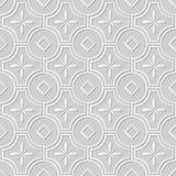 Wektoru 3D papieru sztuki wzoru adamaszkowi bezszwowi 169 tła Round Przecinający kwiat ilustracja wektor