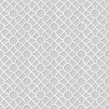 Wektoru 3D papieru sztuki wzoru adamaszkowi bezszwowi 341 tła Round Przecinający kwiat ilustracja wektor