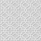 Wektoru 3D papieru sztuki wzoru adamaszkowi bezszwowi 356 tła Round Przecinający prostokąt ilustracji