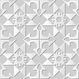 Wektoru 3D papieru sztuki wzoru adamaszkowi bezszwowi 161 tła Strzałkowaty Crosscheck ilustracja wektor