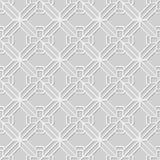 Wektoru 3D papieru sztuki wzoru adamaszkowi bezszwowi 301 tła wieloboka Przecinająca geometria ilustracja wektor