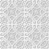 Wektoru 3D papieru sztuki wzoru tła 250 adamaszkowego bezszwowego krzyża kwiatu Ślimakowaty winograd royalty ilustracja
