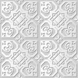 Wektoru 3D papieru sztuki wzoru tła 092 adamaszkowego bezszwowego kwadrata geometrii Gwiazdowy serce royalty ilustracja