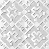 Wektoru 3D papieru sztuki wzoru tła 032 adamaszkowego bezszwowego kwadrata Przecinająca geometria ilustracji