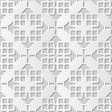 Wektoru 3D papieru sztuki wzoru tła 137 adamaszkowego bezszwowego kwadrata Przecinająca geometria royalty ilustracja