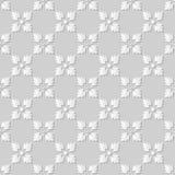 Wektoru 3D papieru sztuki wzoru tła 173 adamaszkowego bezszwowego kwadrata Przecinający kwiat ilustracja wektor