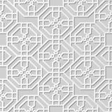 Wektoru 3D papieru sztuki wzoru tła 305 adamaszkowego bezszwowego ośmioboka Przecinający kwiat ilustracji