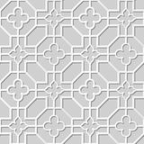 Wektoru 3D papieru sztuki wzoru tła 309 adamaszkowego bezszwowego ośmioboka Przecinający kwiat ilustracji