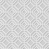 Wektoru 3D papieru sztuki wzoru tła 345 adamaszkowego bezszwowego ośmioboka Round krzyż ilustracji