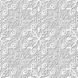 Wektoru 3D papieru sztuki wzoru tła 068 adamaszkowego bezszwowego pawia Piórkowy kalejdoskop ilustracja wektor