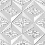 Wektoru 3D papieru sztuki wzoru tła 163 adamaszkowego bezszwowego trójboka Przecinający kwiat ilustracji