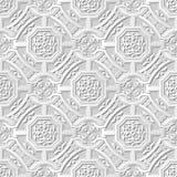 Wektoru 3D papieru sztuki wzoru tła 243 adamaszkowego bezszwowego wieloboka Przecinający łańcuch ilustracji