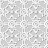Wektoru 3D papieru sztuki wzoru tła 023 adamaszkowego bezszwowego wieloboka Round kwiat ilustracja wektor
