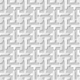 Wektoru 3D papieru sztuki wzoru tła 005 adamaszkowej bezszwowej gwiazdy Ślimakowaty krzyż royalty ilustracja