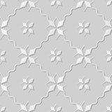 Wektoru 3D papieru sztuki wzoru tła 172 adamaszkowej bezszwowej gwiazdy fala Przecinająca linia ilustracji