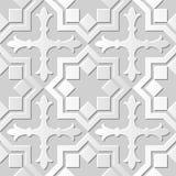 Wektoru 3D papieru sztuki wzoru tła 022 adamaszkowej bezszwowej gwiazdy Przecinająca geometria ilustracji