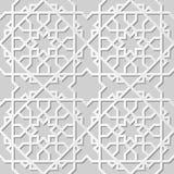 Wektoru 3D papieru sztuki wzoru tła 303 adamaszkowej bezszwowej gwiazdy Przecinająca geometria royalty ilustracja