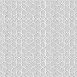 Wektoru 3D papieru sztuki wzoru tła 326 adamaszkowej bezszwowej gwiazdy Przecinająca geometria ilustracja wektor
