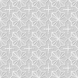 Wektoru 3D papieru sztuki wzoru tła 329 adamaszkowej bezszwowej gwiazdy Przecinająca geometria royalty ilustracja