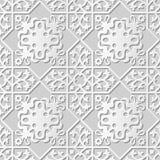 Wektoru 3D papieru sztuki wzoru tła 034 adamaszkowej bezszwowej gwiazdy Przecinający kalejdoskop ilustracji