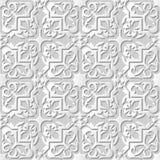 Wektoru 3D papieru sztuki wzoru tła 066 adamaszkowej bezszwowej gwiazdy Przecinający kalejdoskop royalty ilustracja