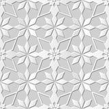 Wektoru 3D papieru sztuki wzoru tła 162 adamaszkowej bezszwowej gwiazdy Przecinający kwiat ilustracji