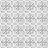 Wektoru 3D papieru sztuki wzoru tła 323 adamaszkowej bezszwowej gwiazdy Przecinający kwiat Zdjęcia Stock