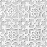 Wektoru 3D papieru sztuki wzoru tła 013 adamaszkowej bezszwowej krzywy Ślimakowaty kwiat royalty ilustracja