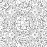 Wektoru 3D papieru sztuki wzoru tła 236 adamaszkowej bezszwowej krzywy Przecinająca rama Royalty Ilustracja