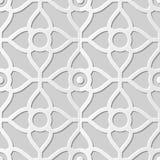 Wektoru 3D papieru sztuki wzoru tła 342 adamaszkowej bezszwowej krzywy Przecinający kwiat ilustracja wektor