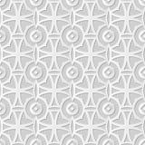 Wektoru 3D papieru sztuki wzoru tła 018 adamaszkowej bezszwowej krzywy Przecinający Round kwiat ilustracja wektor