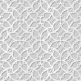 Wektoru 3D papieru sztuki wzoru tła 241 adamaszkowej bezszwowej spirali kwiatu Przecinająca koronka ilustracji