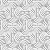 Wektoru 3D papieru sztuki wzoru tła 076 adamaszkowej bezszwowej spirali Przecinająca krzywa royalty ilustracja