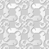 Wektoru 3D papieru sztuki wzoru tła 082 adamaszkowej bezszwowej spirali Przecinający kwiat ilustracja wektor