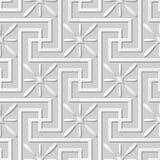 Wektoru 3D papieru sztuki wzoru tła 165 adamaszkowej bezszwowej spirali Przecinający kwiat ilustracja wektor