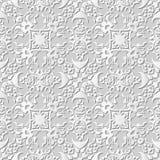 Wektoru 3D papieru sztuki wzoru tła 245 geometrii adamaszkowy bezszwowy kalejdoskop royalty ilustracja