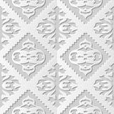 Wektoru 3D papieru sztuki wzoru tła 015 Sawtooth czeka adamaszkowy bezszwowy kalejdoskop royalty ilustracja