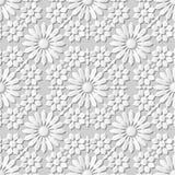 Wektoru 3D papieru sztuki wzoru tła 012 kalejdoskopu adamaszkowy bezszwowy kwiat Obraz Royalty Free