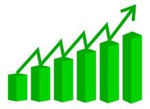 Wektoru 3d prętowy wykres Fotografia Stock
