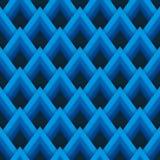 Wektoru deseniowy bezszwowy wzór z błękitnymi rhombuses Zdjęcie Royalty Free
