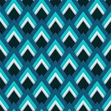 Wektoru deseniowy bezszwowy wzór z błękitnymi rhombuses Zdjęcia Stock