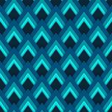 Wektoru deseniowy bezszwowy wzór z błękitnymi rhombuses Obrazy Stock