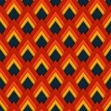 Wektoru deseniowy bezszwowy wzór z czerwonymi rhombuses Fotografia Royalty Free