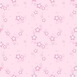 Wektoru deseniowy tło z różowymi gwiazdami Obraz Royalty Free