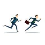Wektoru dwa biznesowego mężczyzna konkurencyjny biznes Fotografia Royalty Free