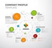 Wektoru Firma przeglądu projekta infographic szablon royalty ilustracja