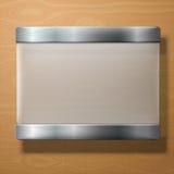 Wektoru frosted szklany talerz z metali właścicielami, dalej Fotografia Royalty Free
